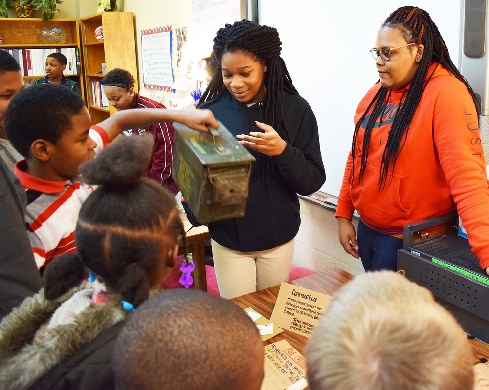 Students discuss Civil War with BES fifth-graders, then present 'scrapbook'