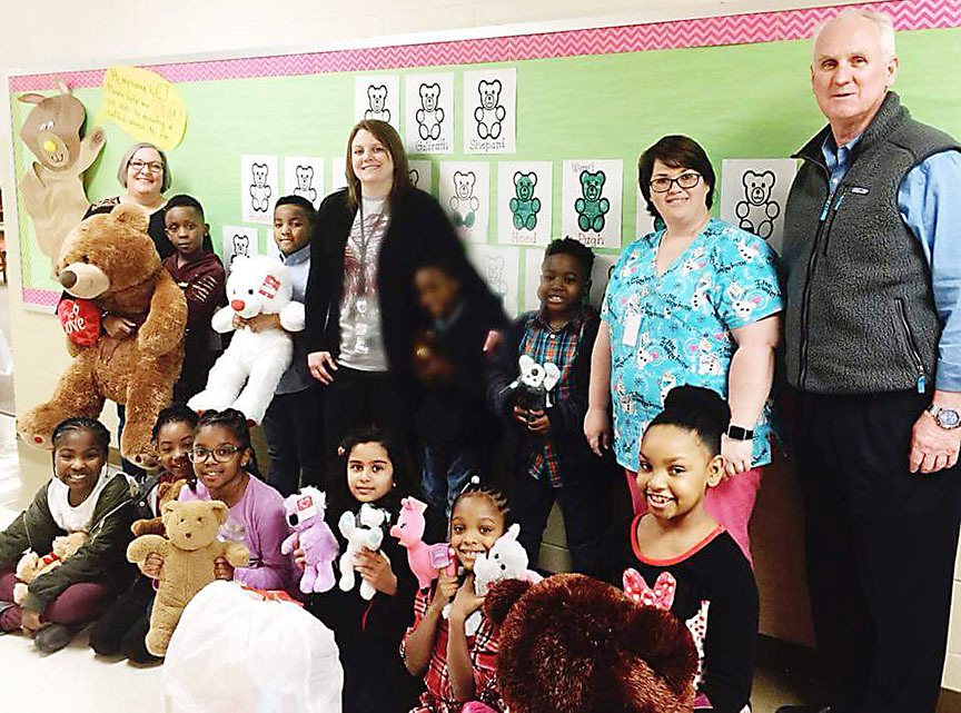 BPS students donate stuffed animals