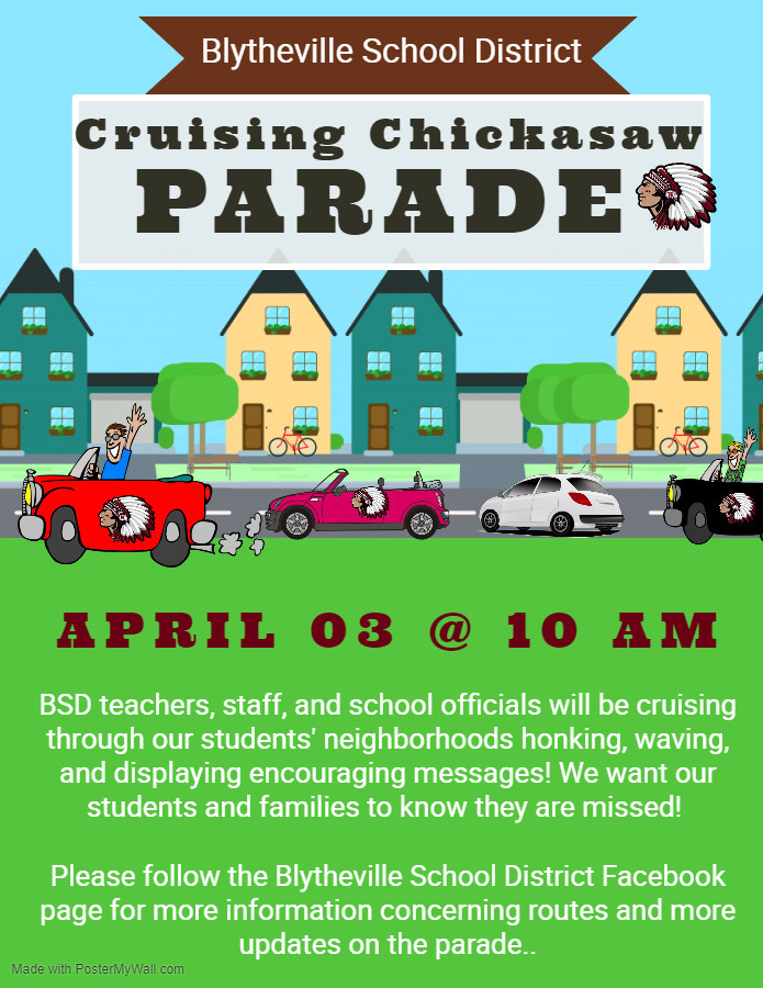 'Cruising Chickasaws' parade will be April 3