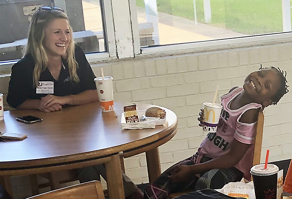 Friends created through 'Lunch Buddies'