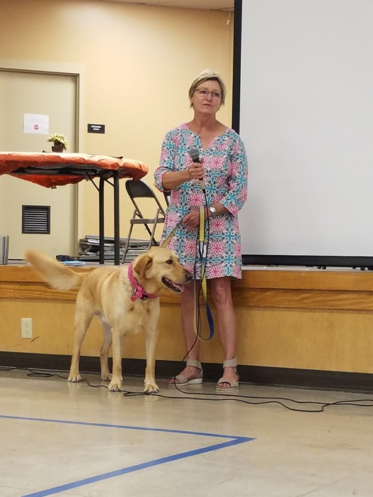 Susie Langston and her granddog, Harry, visited with our children this morning and spoke about the Humane Society.