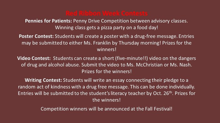 Red Ribbon Contests