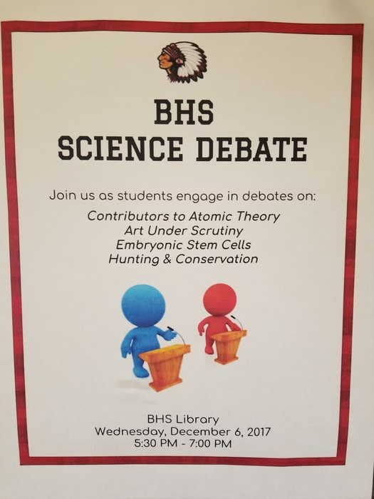 BHS Science Debate