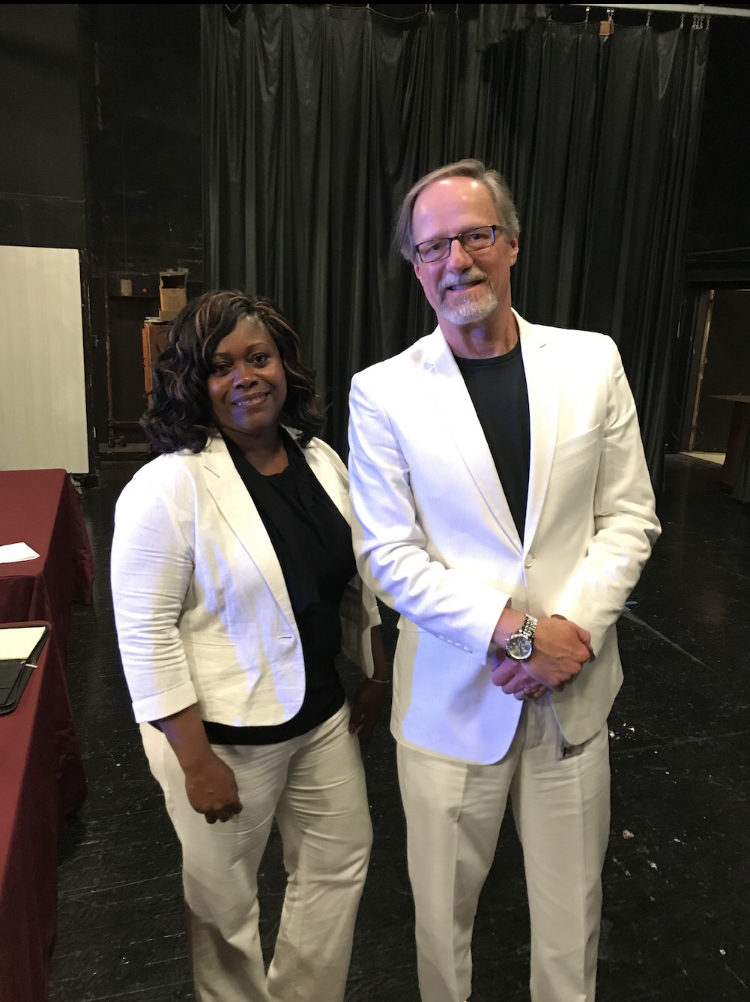 Congratulations to Coach Mary Jackson on being voted as Blytheville Middle School Teacher of the Year!  We are proud to have such an incredible educator on our campus.  Coach Jackson posing with principal Mr. Wallace