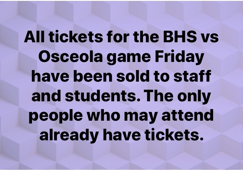 Football Tickets announcement
