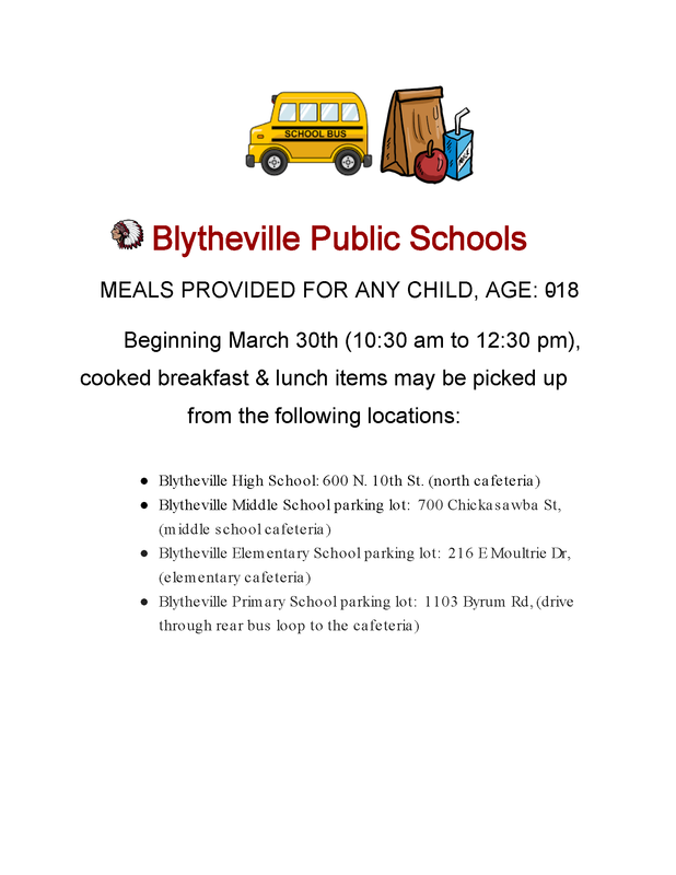 Information Regarding BPS Cooked Meals Starting March 30th